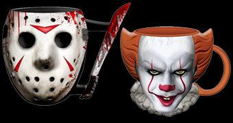 Canecas Assustadoras: Jason Voorhees de Sexta-Feira 13 e Pennywise de IT A Coisa