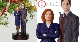 Enfeite de Natal Arquivo X (The X-Files): Mulder e Scully