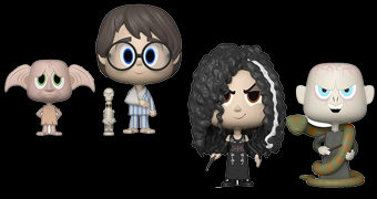 Duplas VYNL Harry Potter: Dobby + Harry e Bellatrix + Voldemort