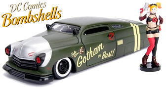 Carrinhos de Metal Die-Cast 1:24 DC Comics Bombshells