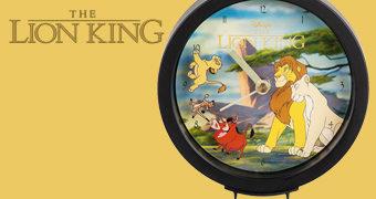 Relógio Rei Leão com Simba, Nala, Timão e Pumba