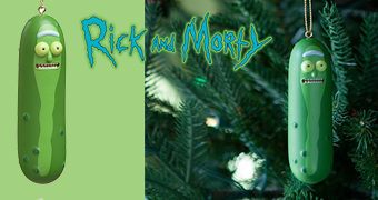 Enfeite de Natal Rick and Morty: Pickle Rick