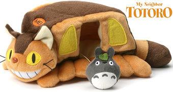 Ônibus-Gato de Pelúcia com Mini Totoro (Hayao Miyazaki)