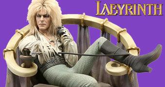 Estátua Labirinto A Magia do Tempo: Jareth (David Bowie) no Trono de Rei dos Duendes