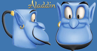 Caneca 3D Aladdin: Gênio (Robin Williams)
