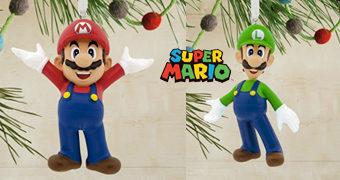 Enfeites de Natal Super Mario Bros. Nintendo: Mario e Luigi