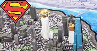 Quebra-Cabeça 4D Cityscape Superman Metropolis com 3 Camadas
