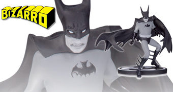 Bizarro Batman por Tony Millionaire – Estátua Batman: Black and White