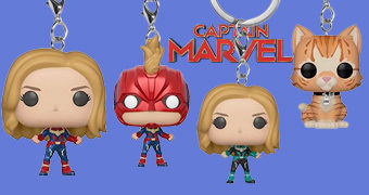 Chaveiros Capitã Marvel Pocket Pop!
