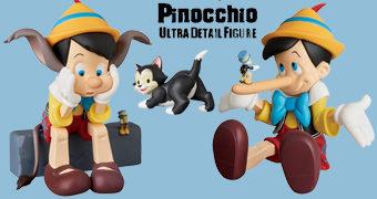 Bonecos Pinóquio UDF Disney da Medicom Toy Japão