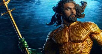 Aquaman Premium Format (Jason Momoa) – Estátua 1:4 Sideshow Collectibles