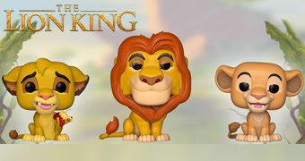 O Rei Leão Pop! com Mufasa, Simba, Nala, Timão, Pumba e Zazu
