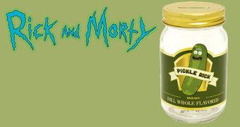 Cofre Pickle Rick Vidro de Picles (Rick and Morty)