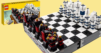 Xadrez LEGO Iconic Chess com 1.450 Peças