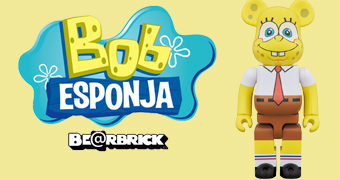 Bob Esponja Calça Quadrada Be@rbrick (100% & 400%)