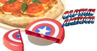 Cortador de Pizza Escudo do Capitão América!
