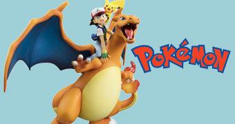 Charizard com Ash Ketchum e Pikachu – Megahouse Pokémon G.E.M. Series