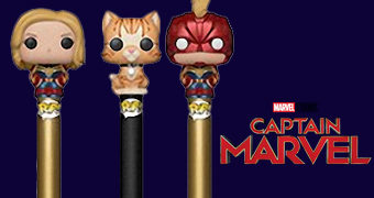 Canetas Pop! Pen Capitã Marvel