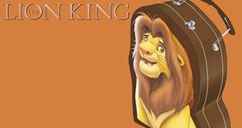 Lancheira Simba, o Rei Leão com Formato Irregular