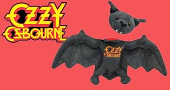 Morcego de Pelúcia Ozzy Osbourne com Cabeça Removível!