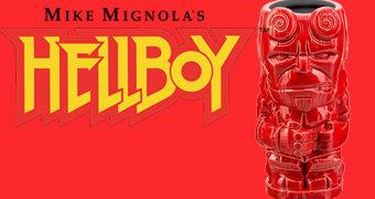 Caneca Tiki Mug Hellboy no Estilo Polinésio