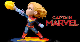 Capitã Marvel Q-Fig no Estilo Chibi