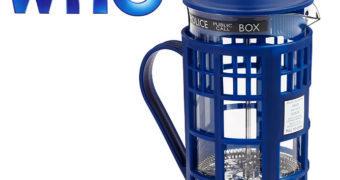 Cafeteira Prensa Francesa Doctor Who TARDIS
