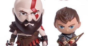God of War Kratos & Atreus – Mini-Figuras Super Detalhadas da Gaming Heads