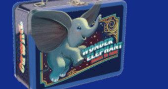 Lancheira de Lata Dumbo de Tim Burton