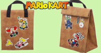 Lancheira Mario Kart em Forma de Saco de Papel