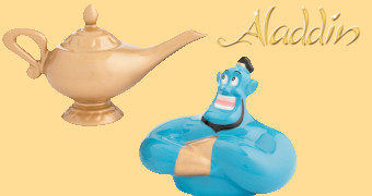Saleiro e Pimenteiro Aladdin: Gênio e Lâmpada Mágica