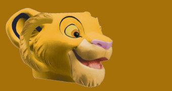 Simba, o Rei Leão Caneca de Cerâmica 3D