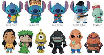 Chaveiros 3D Monogram Lilo & Stitch (Blind-Box)