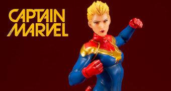Capitã Marvel ArtFX+ por Adi Granov – Estátua Kotobukiya 1:10 Marvel Comics