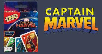 Jogo de Cartas Uno Capitã Marvel