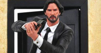 Estátua Diorama John Wick (Keanu Reeves) Diamond Select Gallery