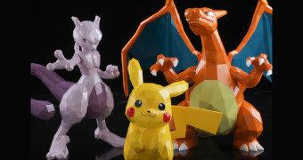 Pokémon POLYGO em Estilo Poligonal: Pikachu, Mewtwo e Charizard