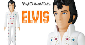 "Boneco Elvis Presley ""The King of Rock 'n' Roll"" VCD Medicom"