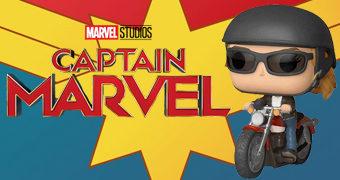 Capitã Marvel Pop! Rides: Carol Danvers na Motocicleta