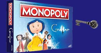 Jogo Monopoly Coraline – Filme Stop-Motion de Henry Selick e Neil Gaiman