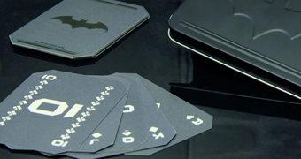 Baralho Batman com Cartas Pretas Foscas em Lata de Luxo