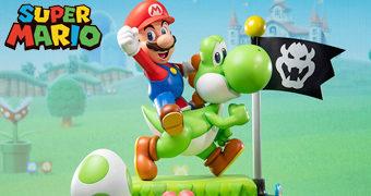 Estátua Mario & Yoshi Edição Definitiva (First 4 Figures)