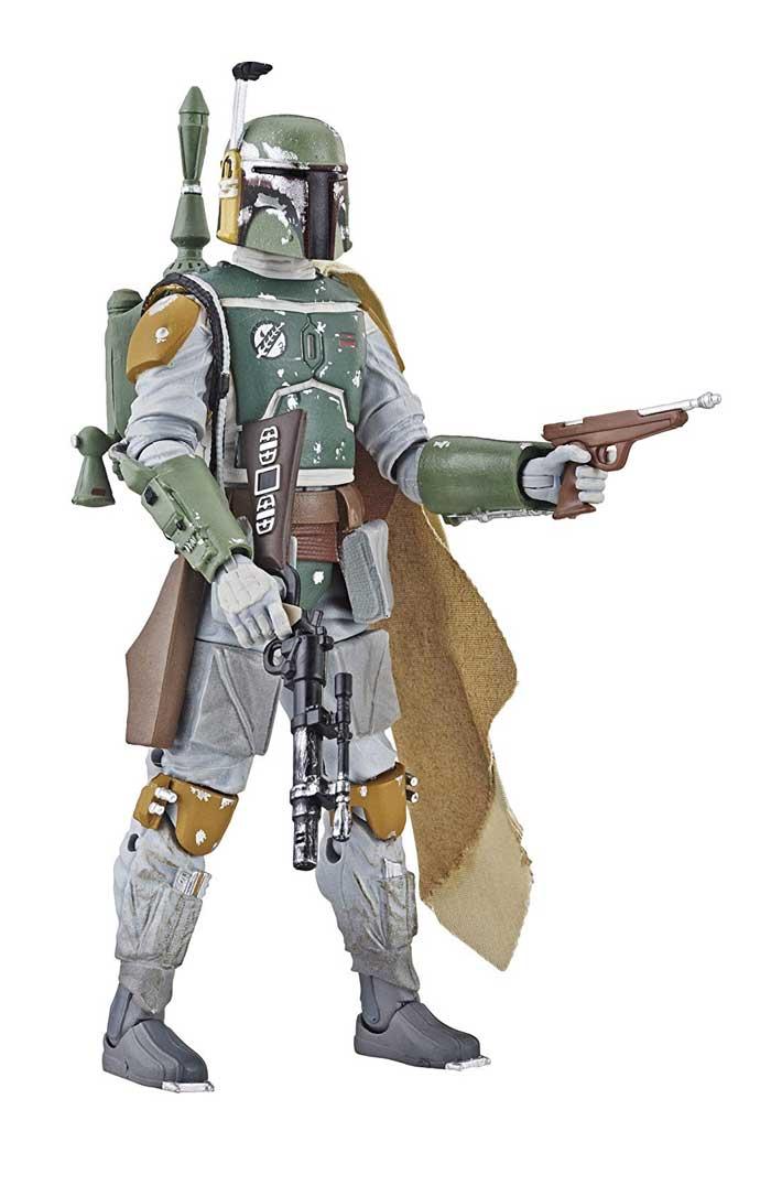 Boba Fett, um dos caçadores de recompensa de O Império Contra-Ataca em versão Black Series