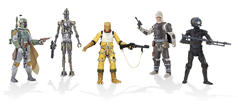 Caçadores de Recompensas de O Império Contra-Ataca em versão Black Series da Hasbro
