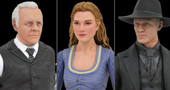 "Westworld Select Line 7"" Action Figures: Dolores, Homem de Preto e Dr. Ford"