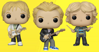 Bonecos Pop! The Police: Sting, Andy Summers e Stewart Copeland