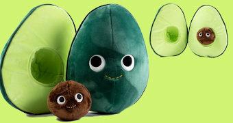 Abacate de Pelúcia Eva e seu Melhor Amigo, o Caroço Piper (Yummy World)