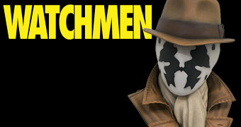 Busto Rorschach (Watchmen) Legends in 3D em Escala 1:2