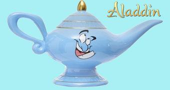 Cofre Lâmpada Mágica do Gênio Azul (Aladdin)