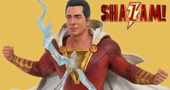 Shazam! (Zachary Levi) Estátua Diorama DC Gallery